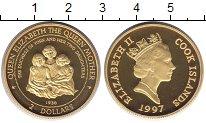 Изображение Монеты Острова Кука 2 доллара 1997 Серебро Proof Елизавета II. Короле