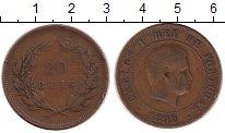 Изображение Монеты Европа Португалия 20 рейс 1892 Бронза VF