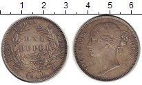 Изображение Монеты Британская Индия 1 рупия 1840 Серебро XF+