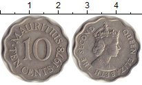 Изображение Монеты Африка Маврикий 10 центов 1978 Медно-никель XF