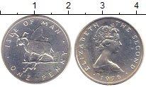 Изображение Монеты Великобритания Остров Мэн 1 пенни 1976 Серебро UNC
