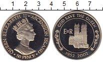 Изображение Монеты Аскенсион 50 пенсов 2002 Медно-никель UNC