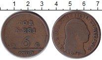 Изображение Монеты Неаполь 6 торнеси 1799 Медь VF