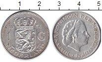 Изображение Монеты Европа Нидерланды 1 гульден 1956 Серебро XF