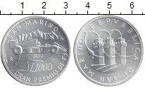 Изображение Монеты Европа Сан-Марино 1000 лир 1989 Серебро UNC