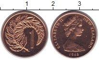 Изображение Монеты Новая Зеландия 1 цент 1968 Медь UNC