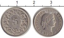 Изображение Монеты Европа Швейцария 5 рапп 1932 Медно-никель XF