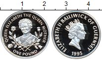 Изображение Монеты Великобритания Гернси 1 фунт 1995 Серебро Proof-