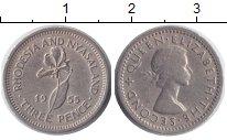 Изображение Монеты Великобритания Родезия 3 пенса 1955 Медно-никель XF