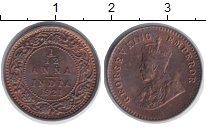Изображение Монеты Индия 1/12 анны 1921 Бронза XF Георг V.