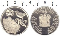 Изображение Монеты ЮАР 2 ранда 1995 Серебро Proof