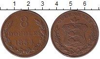 Изображение Монеты Великобритания Гернси 8 дублей 1834 Медь XF