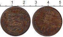 Изображение Монеты Великобритания Остров Джерси 1/24 шиллинга 1933 Медь VF