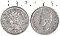 Изображение Монеты Европа Великобритания 1/2 кроны 1940 Серебро XF