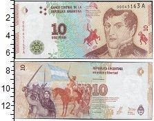 Изображение Банкноты Аргентина 10 песо 0  UNC