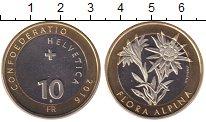 Изображение Мелочь Швейцария 10 франков 2016 Биметалл UNC-