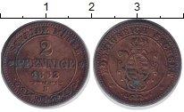 Изображение Монеты Германия Саксония 2 пфеннига 1862 Медь XF-