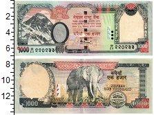 Изображение Банкноты Непал 1000 рупий 0  UNC Слон.