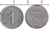 Изображение Дешевые монеты ГДР 1 пфенниг 1952 Алюминий F