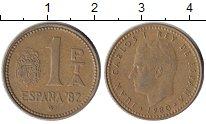 Изображение Дешевые монеты Европа Испания 1 песета 1980 Бронза XF-
