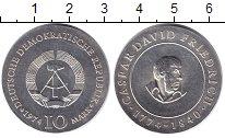 Изображение Монеты ГДР 10 марок 1974 Серебро UNC- Каспар Давид Фридрих