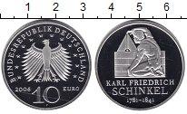 Изображение Монеты Германия 10 евро 2006 Серебро Proof- Карл Фридрих Шинкель