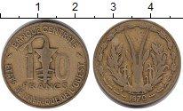 Изображение Монеты Западная Африка 10 франков 1970 Медь XF Антилопа Канна.