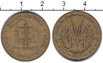 Изображение Монеты Западная Африка 10 франков 1969 Медь XF Протекторат Франции.