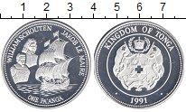 Изображение Монеты Австралия и Океания Тонга 1 паанга 1991 Серебро Proof