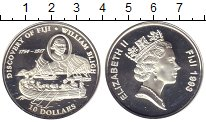 Изображение Монеты Фиджи 10 долларов 1993 Серебро Proof Елизавета II. Открыт