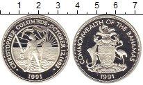 Изображение Монеты Багамские острова 5 долларов 1991 Серебро Proof