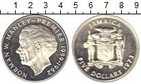 Изображение Монеты Северная Америка Ямайка 5 долларов 1973 Серебро Proof