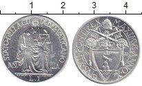 Изображение Монеты Ватикан 1 лира 1942 Железо