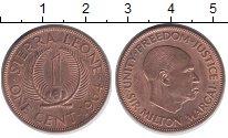 Изображение Мелочь Сьерра-Леоне 1 цент 1964 Бронза UNC- Сэр Милтон Маргай.