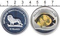 Изображение Монеты Африка Конго 10 франков 2005 Серебро Proof-