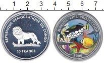 Изображение Монеты Конго 10 франков 2008 Серебро Proof