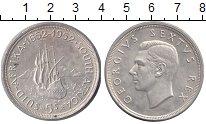Изображение Монеты Африка ЮАР 5 шиллингов 1952 Серебро UNC-