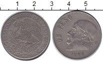 Изображение Дешевые монеты Мексика 1 песо 1974 Медно-никель VF+
