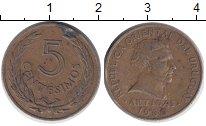 Изображение Дешевые монеты Южная Америка Уругвай 5 сентесим 1960 Латунь VF-