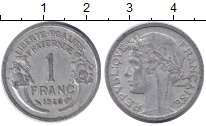Изображение Дешевые монеты Европа Франция 1 франк 1946 Алюминий XF
