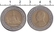 Изображение Дешевые монеты Таиланд 10 бат 2006 Биметалл XF