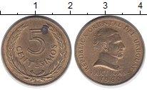 Изображение Дешевые монеты Южная Америка Уругвай 5 сентесим 1960 Латунь XF+