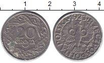 Изображение Дешевые монеты Польша 20 грош 1923 Медно-никель VF+