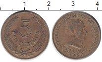 Изображение Дешевые монеты Южная Америка Уругвай 5 сентесим 1960 Латунь VF