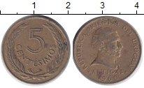 Изображение Дешевые монеты Южная Америка Уругвай 5 сентесим 1960 Латунь VF+