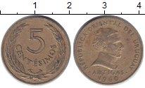 Изображение Дешевые монеты Южная Америка Уругвай 5 сентесим 1960 Латунь XF-