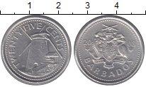 Изображение Монеты Северная Америка Барбадос 25 центов 2008 Медно-никель XF