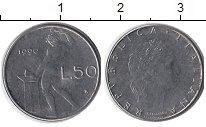 Изображение Дешевые монеты Италия 50 лир 1990 Железо XF