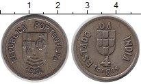 Изображение Монеты Португальская Индия 4 таньга 1934 Серебро XF
