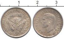Изображение Монеты ЮАР 3 пенса 1946 Серебро XF